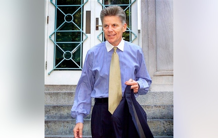 July 11, 2001: Then-Rep. Gary Condit, D-Calif., leaves his Washington apartment.