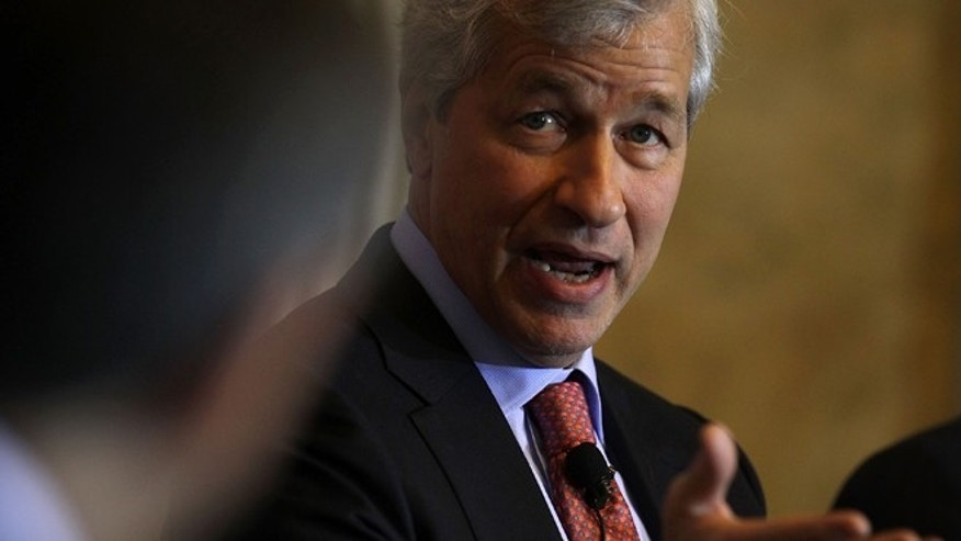 "WASHINGTON, DC - DECEMBER 01:  JPMorgan Chase Chairman and CEO Jamie Dimon participates in a panel discussion during the Financial Inclusion Forum December 1, 2015 at the Treasury Department in Washington, DC. Department of the Treasury and the U.S. Agency for International Development (USAID) held the forum to discuss ""ways to foster greater access to safe and affordable financial services for everyone.""  (Photo by Alex Wong/Getty Images)"