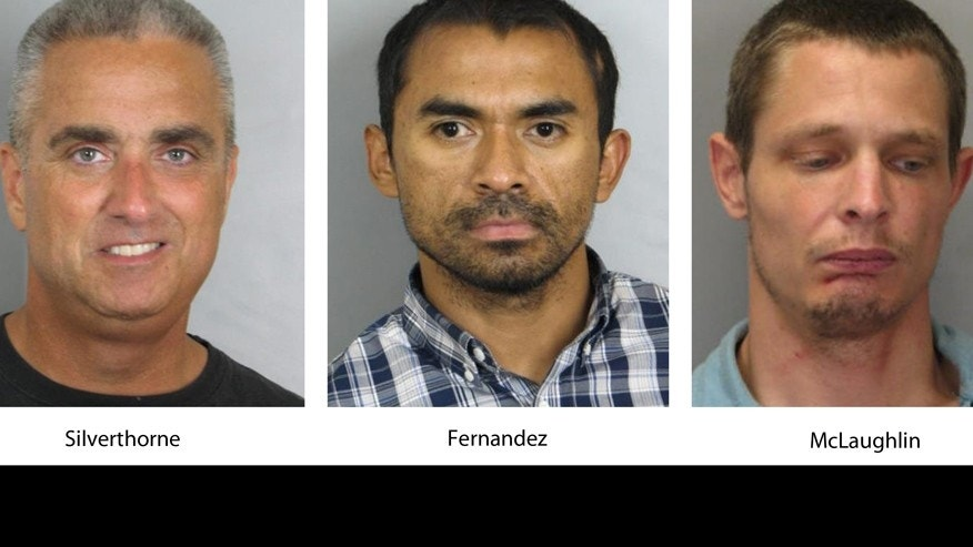 City of Fairfax Mayor Richard Scott Silverthorne, Juan Jose Fernandez, 34, and Caustin Lee McLaughlin, 21. (Fairfax County, Va., Police Department via AP)