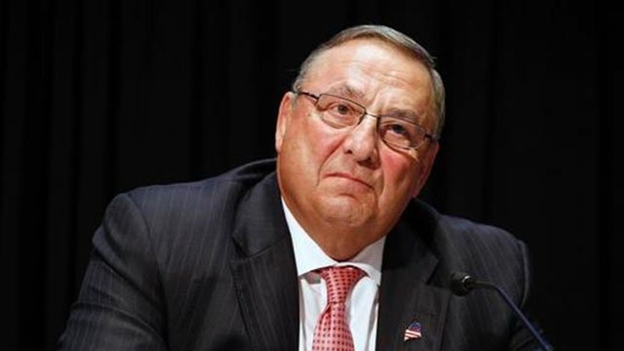 Maine Gov. Paul LePage attends an opioid abuse conference in Boston on June 7, 2016.