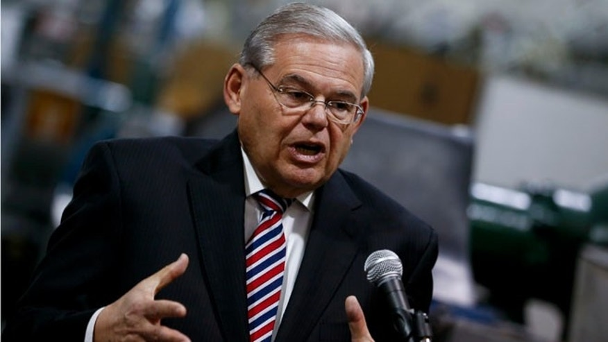 U.S. Sen. Robert Menendez on March 23, 2015 in Garwood, New Jersey.