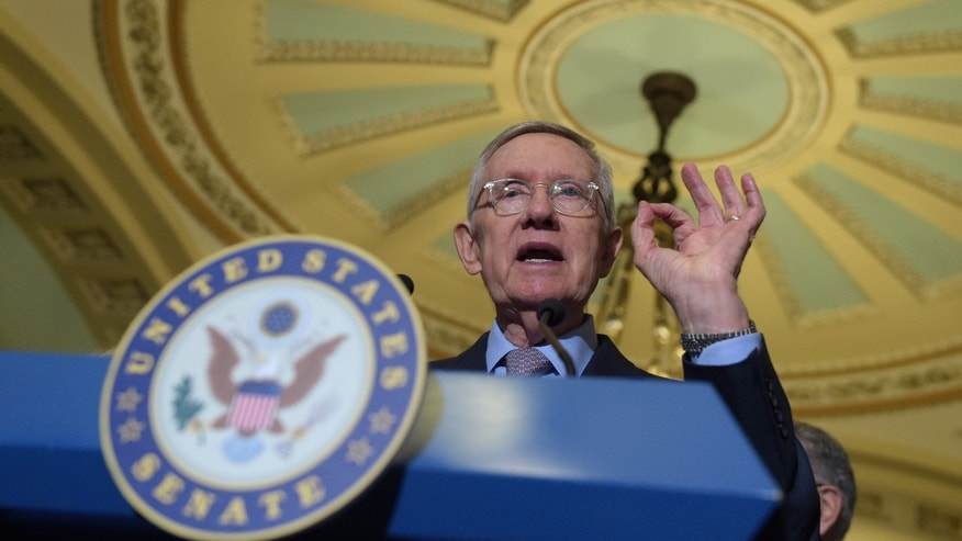 Sept. 13, 2016: Senate Minority Leader Sen. Harry Reid of Nev. speaks to reporters during a news conference on Capitol Hill in Washington.