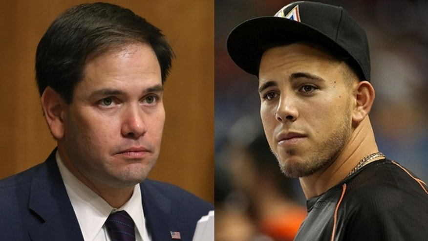 Sen. Marco Rubio (left) and Miami Marlins pitcher Jose Fernandez. (Photos: Getty Images)