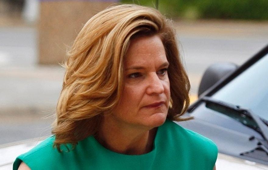 May 9, 2012: Jennifer Palmieri, a former campaign spokeswoman for John Edwards, arrives at a federal courthouse in Greensboro, N.C.
