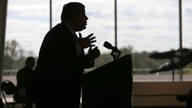 New Jersey Gov. Chris Christie addresses a gathering at the New Jersey State Museum during a Hispanic Heritage Month event Wednesday, Oct. 12, 2016, in Trenton, N.J. (AP Photo/Mel Evans)