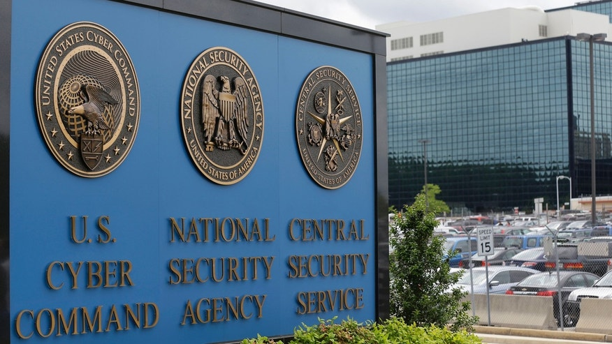 June 6, 2013: This photo shows the sign outside the National Security Agency campus in Fort Meade, Md.