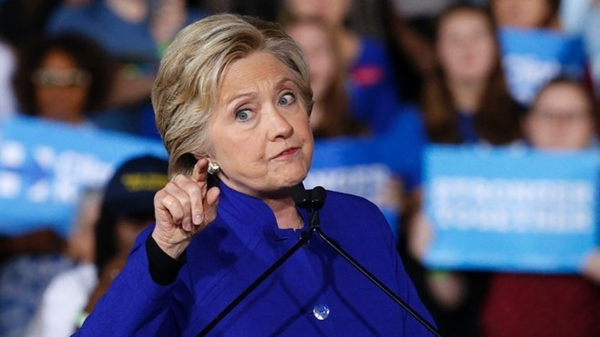 Democratic presidential candidate Hillary Clinton speaks at a campaign rally Wednesday, Nov. 2, 2016, in Tempe, Ariz. (AP Photo/Ross D. Franklin)