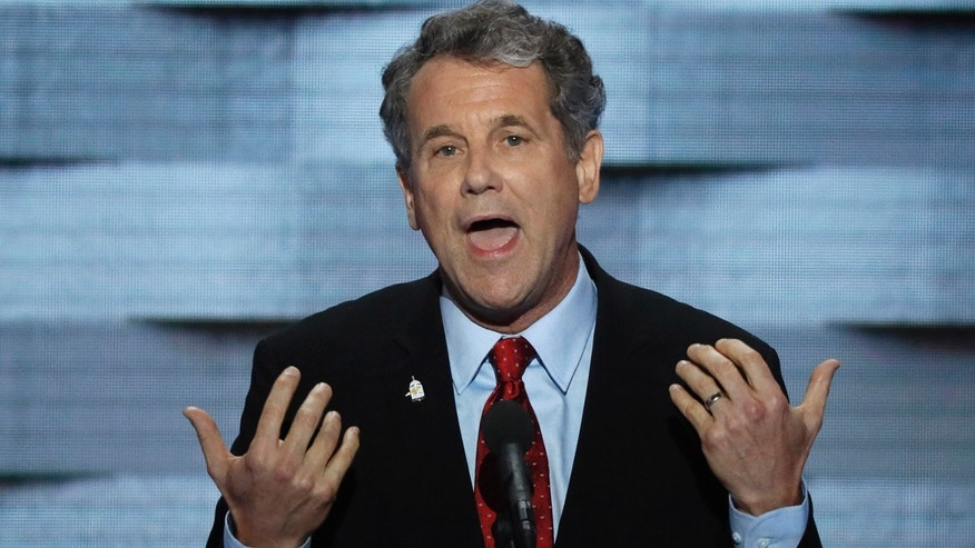 U.S. Senator Sherrod Brown (D-OH) speaks on the final night of the Democratic National Convention in Philadelphia, Pennsylvania, U.S. July 28, 2016.