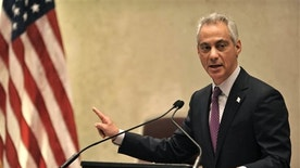 Chicago Mayor Rahm Emanuel speaks during a special City Council meeting Wednesday.