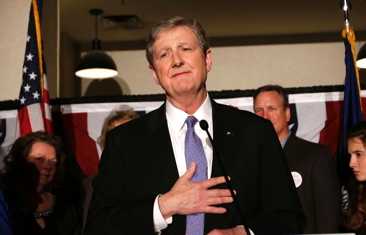 a09394504 Louisiana state treasurer John Kennedy addresses supporters at his election  watch party