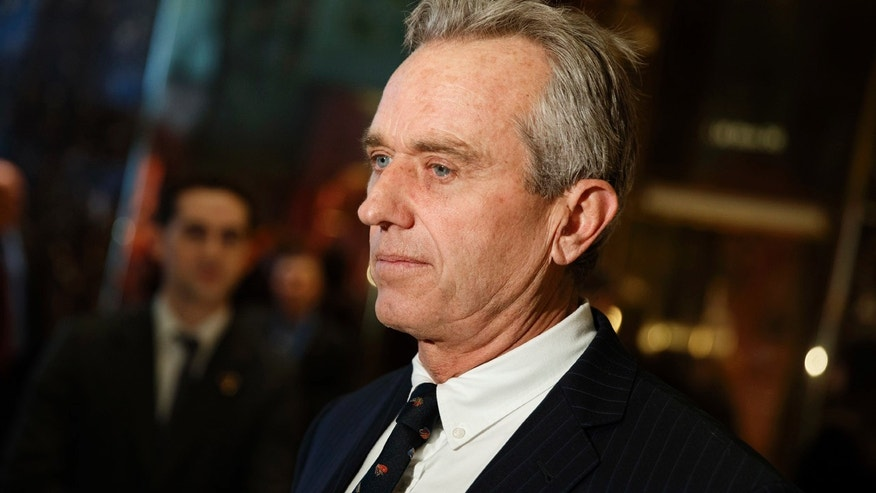Jan. 10, 2017: Robert F. Kennedy Jr. talks with reporters in the lobby of Trump Tower in New York after meeting with President-elect Donald Trump.