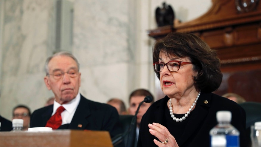Sen. Dianne Feinstein, D-Calif., questions Attorney General-designate Sen. Jeff Sessions.