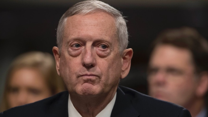 Defense Secretary-designate James Mattis is seen in Washington, DC
