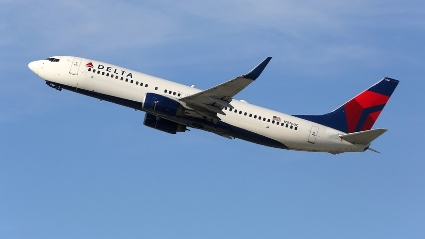 Los Angeles, USA - February 22, 2016: A Delta Air Lines Boeing 737-800 with the registration N3760C takes off from Los Angeles International Airport (LAX) in the USA. Delta Air Lines is an American airline headquartered in Atlanta.