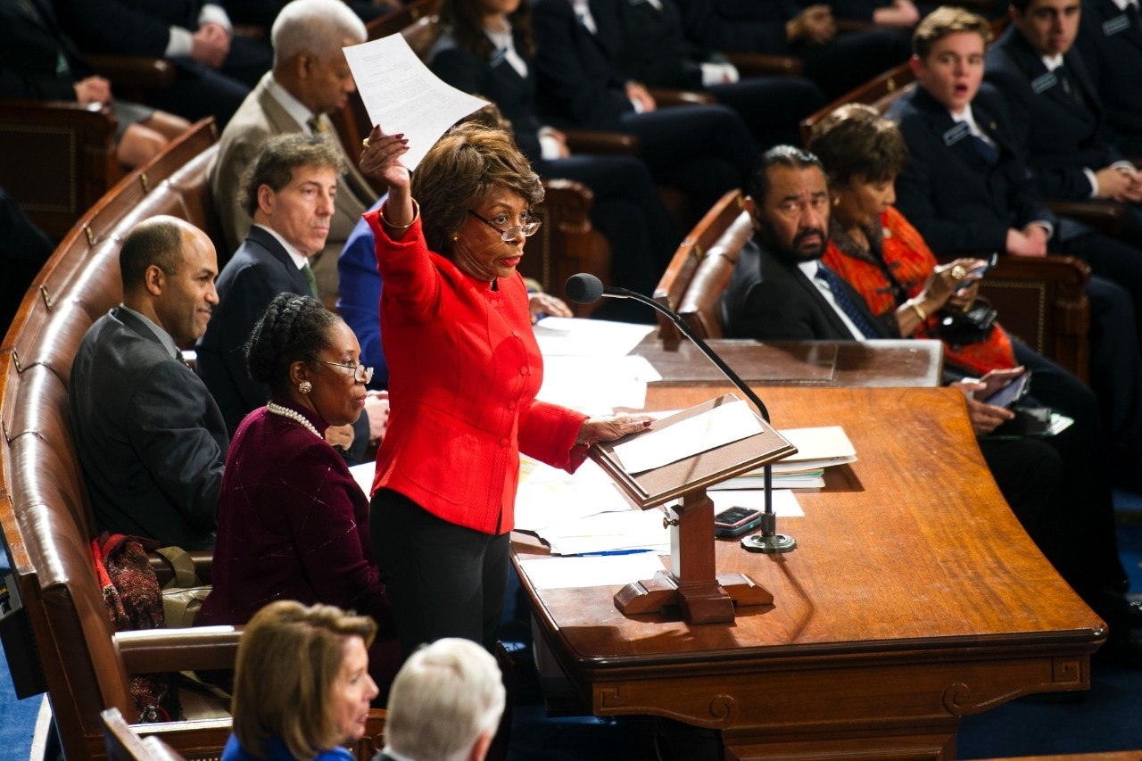 Jumping the gun? Rep. Waters floats Trump impeachment as Dems vow boycott