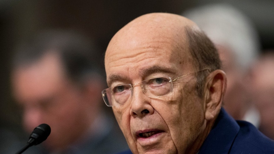 Jan. 18, 2017: Commerce Secretary-designate Wilbur Ross testifies on Capitol Hill in Washington at his confirmation before the Senate Commerce Committee.