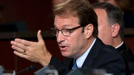 FILE - In this Sept. 17, 2014 file photo, Rep. Peter Roskam, R-Ill., speaks on Capitol Hill in Washington. About 18,000 callers participated in a telephone town hall Monday, Feb. 13, 2017, hosted by Roskam, a suburban Chicago Republican whose been criticized for canceling smaller in-person meetings and declining debates. (AP Photo/Carolyn Kaster, File)