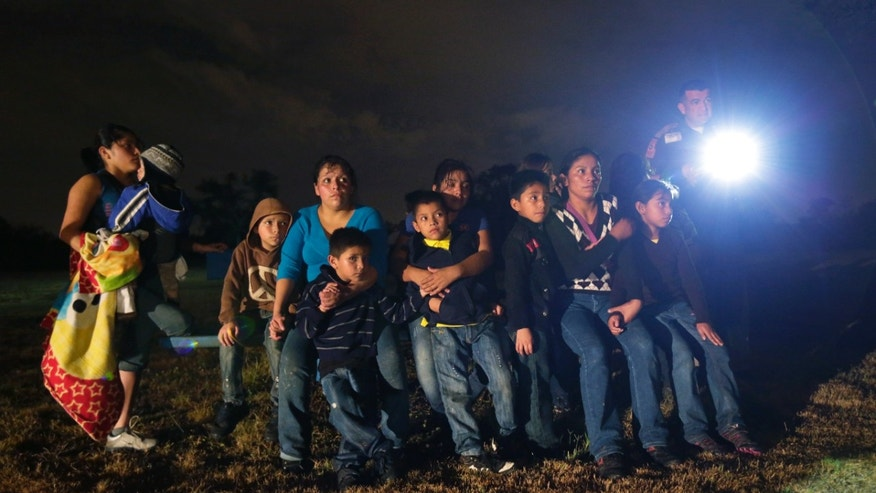 Central American immigrants at the U.S. border.