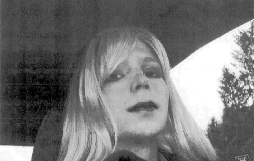 FILE - In this undated file photo provided by the U.S. Army, Pfc. Bradley Manning poses for a photo wearing a wig and lipstick. Manning plans to live as a woman named Chelsea and wants to begin hormone therapy as soon as possible, the soldier said Thursday, Aug. 22, 2013, a day after he was sentenced to 35 years in prison for sending classified material to WikiLeaks. (AP Photo/U.S. Army, File)