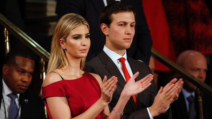 Ivanka Trump and husband Jared Kushner applaud President Donald Trump's address to a joint session of Congress