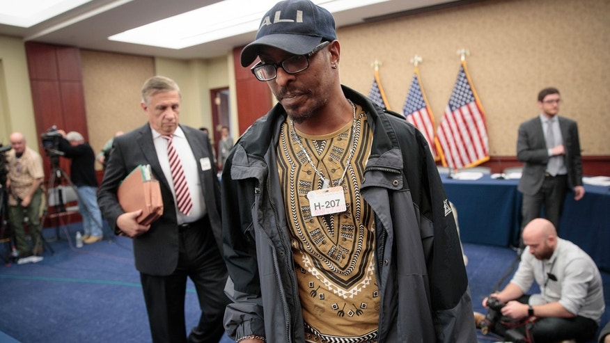 Muhammad Ali Jr., son of the late boxing legend Muhammad Ali, arrives for a forum on Capitol Hill in Washington, Thursday, March 9, 2017, on the consequences of President Donald Trump's immigration policies, sponsored by House House Judiciary Committee members Rep. Zoe Lofgren, D-Calif., and Rep. Luis Gutierrez, D-Ill., a leading advocate in the House for comprehensive immigration reform.  (AP Photo/J. Scott Applewhite)