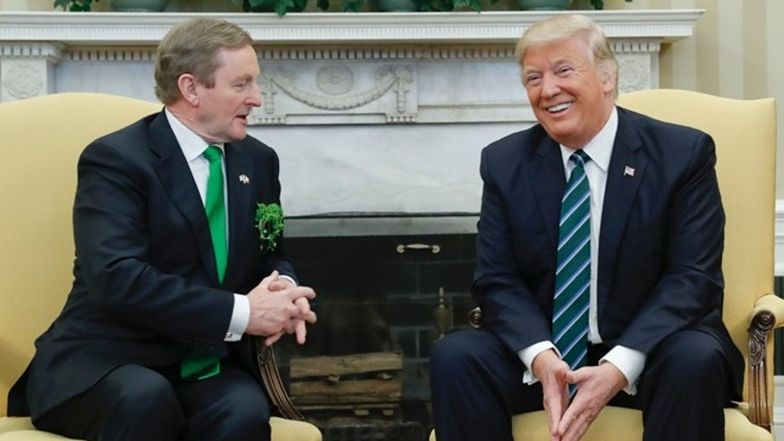 March 16, 2017: President Donald Trump meets with Irish Prime Minister Enda Kenny in the Oval Office of the White House in Washington.