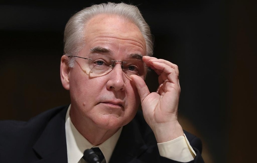 FILE - In this Jan. 24, 2017 file photo, Health and Human Services Secretary-designate, Rep. Tom Price, R-Ga. pauses while testifying on Capitol Hill in Washington at his confirmation hearing before the Senate Finance Committee. Republicans are muscling more of President Donald Trump's Cabinet nominees to the cusp of Senate confirmation over Democratic objections, with committees poised to advance his picks to head agencies in the thick of partisan battles over health care, legal protections, education and the economy. (AP Photo/Andrew Harnik, File)