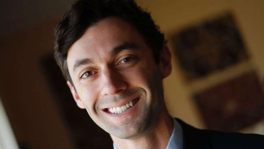 Democratic candidate for Georgia's 6th congressional district Jon Ossoff poses for a portrait in Atlanta.