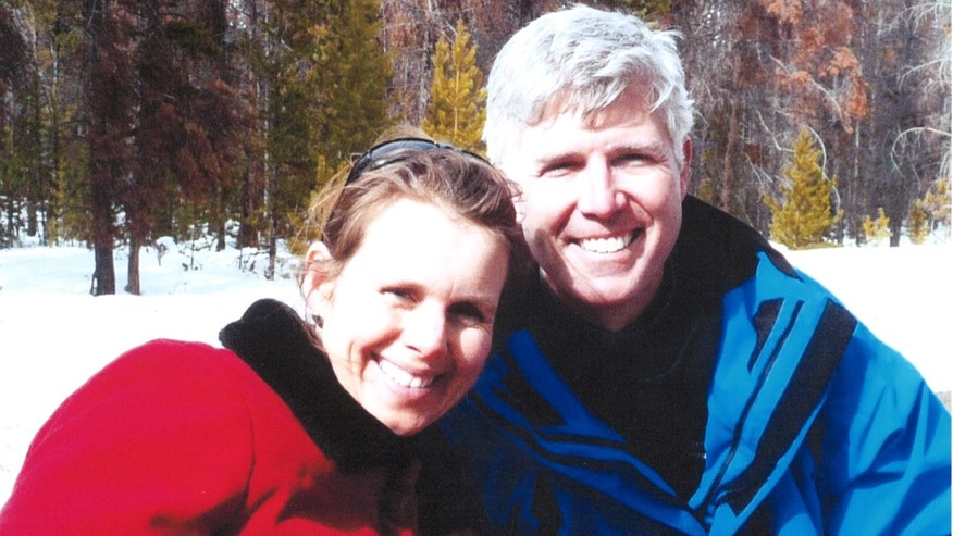 Supreme Court Justice Neil Gorsuch and his wife, Louise, skiing.
