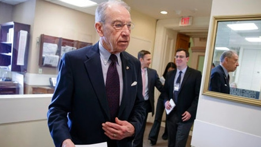 April 7, 2017: Senate Judiciary Committee Chairman Chuck Grassley, R-Iowa, arrives for a news conference just after the confirmation vote for President Donald Trump's high court nominee, Neil Gorsuch, on Capitol Hill in Washington.