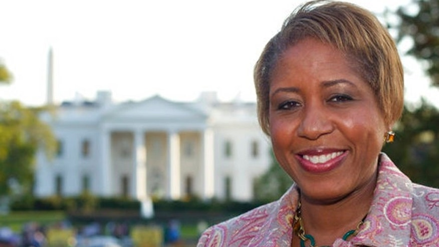 Oct. 18, 2011: The then-incoming White House chief usher Angella Reid is photographed in Lafayette Park across from the White House in Washington.