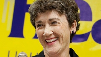 FILE - In this June 5, 2012 file photo, Heather Wilson, R-N.M. is seen in Albuquerque, N.M. Wilson, President Donald Trump's pick for Air Force secretary was on track for Senate confirmation on Monday, May 8, 2017.  (AP Photo/Eric Draper, File)