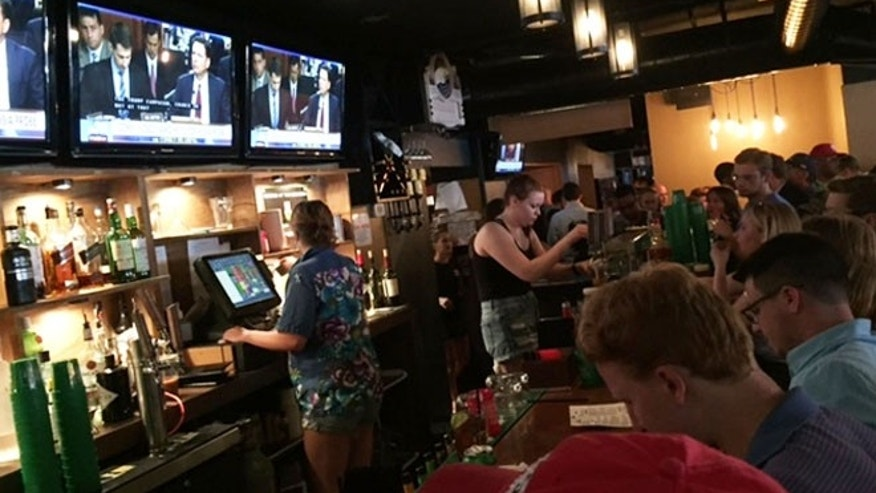 June 8, 2017: D.C.'s Union Pub is filled with patrons watching James Comey's testimony.