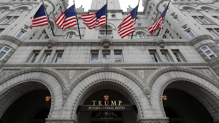 The Trump International Hotel in Washington D.C., where President Trump will hold his first re-election fundraiser on June 28, 2017.