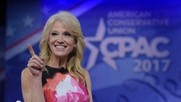 White House counselor Kellyanne Conway speaks at the Conservative Political Action Conference (CPAC) in Oxon Hill, Md., Thursday, Feb. 23, 2017. (AP Photo/Susan Walsh)