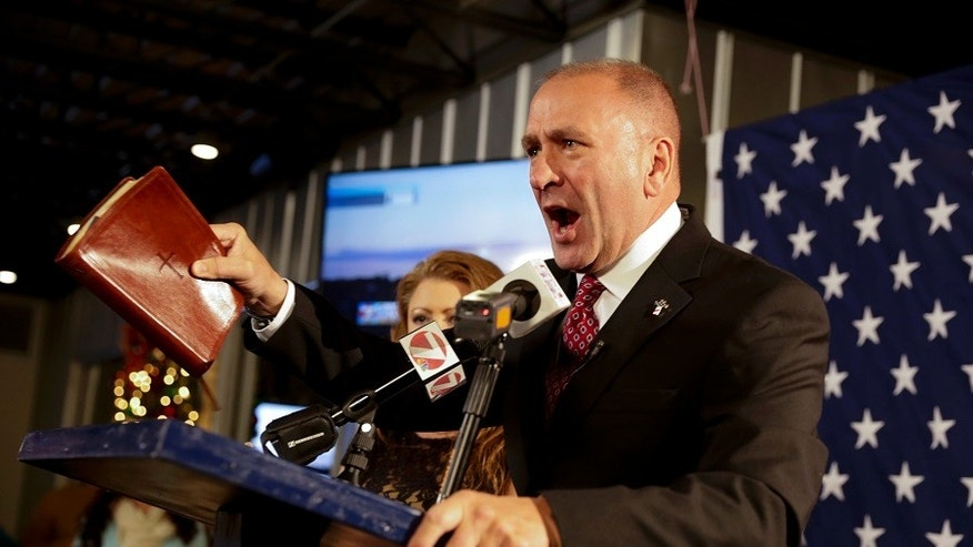 Rep. Clay Higgins R-La. was criticized by officials at the Auschwitz-Birkenau Memorial and Museum on Tuesday, July 4, 2017, after he filmed a video inside a gas chamber at the former concentration camp.