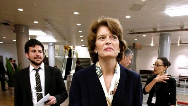 Nov. 16: Sen. Lisa Murkowski is seen on Capitol Hill in Washington.