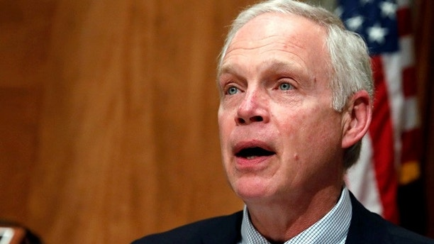 Chairman Senator Ron Johnson (R-WI) speaks prior to Homeland Security Secretary John Kelly testifying before a Senate Homeland Security and Governmental Affairs hearing on border security on Capitol Hill in Washington, D.C., U.S., April 5, 2017. REUTERS/Aaron P. Bernstein - RTX348HM
