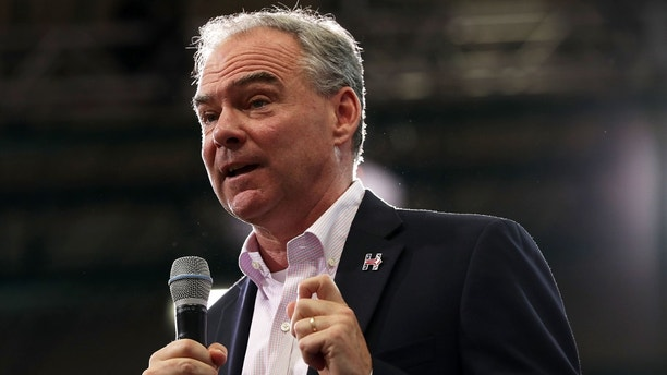 RICHMOND, VA - AUGUST 01:  Democratic vice presidential candidate Sen. Tim Kaine (D-VA) speaks to voters during a campaign event August 1, 2016 in Richmond, Virginia. Kaine returns to campaigning in a homecoming rally after he was picked by Hillary Clinton to be her running mate.  (Photo by Alex Wong/Getty Images)