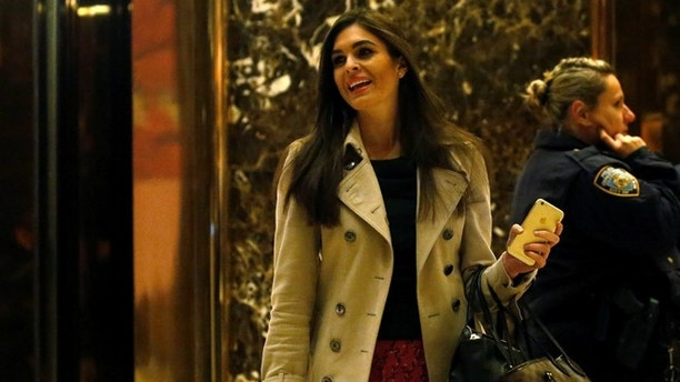Campaign Communications Director Hope Hicks departs the offices of Republican president-elect Donald Trump at Trump Tower in New York, New York, U.S. November 11,  2016.   REUTERS/Carlo Allegri - RTX2TAKR