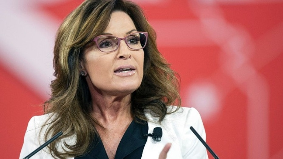 Former Alaska Gov. Sarah Palin speaks during the Conservative Political Action Conference in February 2015.