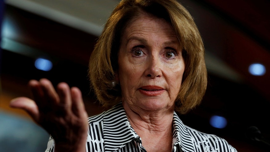 House Minority Leader Nancy Pelosi, D-Calif., speaks at a weekly news conference on Capitol Hill earlier this year.