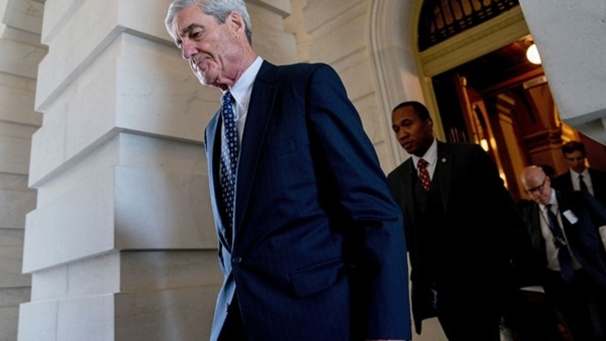 Former FBI Director Robert Mueller, the special counsel probing Russian interference in the 2016 election, departs Capitol Hill following a closed door meeting in Washington this past June.