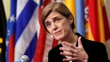 United States Ambassador to the United Nations Samantha Power addresses media following a United Nations Security Council vote, aimed at ensuring that U.N. officials can monitor evacuations from besieged parts of the Syrian city of Aleppo, at the United Nations in Manhattan, New York City, U.S., December 19, 2016. REUTERS/Andrew Kelly - RC16DD561260