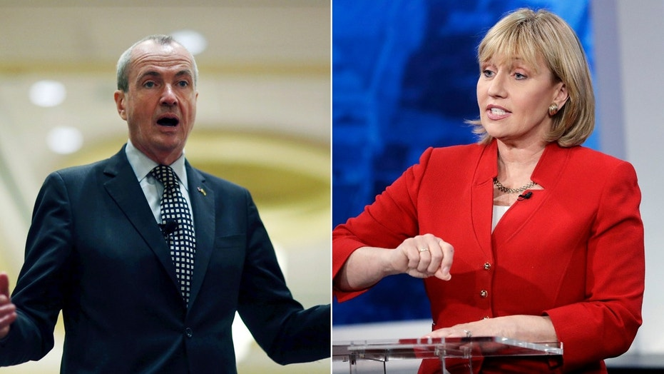 Democratic nominee for New Jersey governor Phil Murphy (left) leads incumbent Republican Lt. Gov. Kim Guadagno by 42-29 percent, according to a new Fox News Poll.