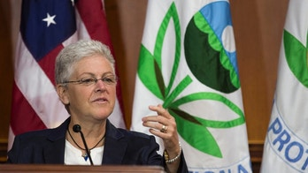 Environmental Protection Agency (EPA) Administrator Gina McCarthy announces steps under the Clean Air Act to cut carbon pollution from existing power plants during a news conference in Washington June 2, 2014.      REUTERS/Joshua Roberts    (UNITED STATES - Tags: POLITICS ENERGY ENVIRONMENT) - GM1EA621TM801
