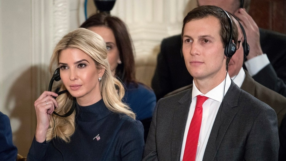 FILE - In this March 17, 2017, file photo Ivanka Trump, the daughter of President Trump, and her husband Jared Kushner, senior adviser to President Donald Trump, attend a joint news conference with the president at the White House.