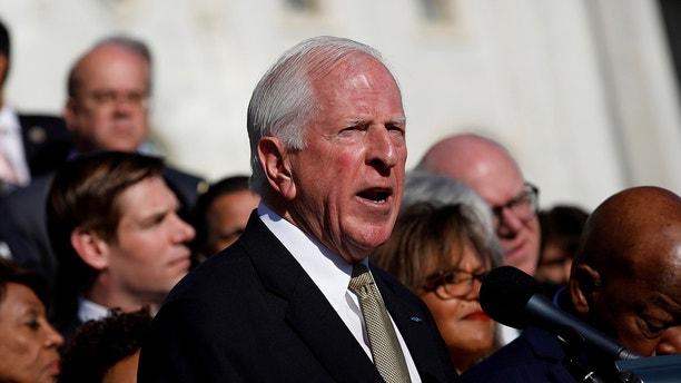 Rep. Mike Thompson (D-CA) speaks at a news conference about the recent shooting in Las Vegas outside the Capitol Building in Washington, U.S., October 4, 2017. REUTERS/Aaron P. Bernstein - RC15B6599050