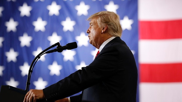 President Donald Trump speaks about tax reform during an event at the Harrisburg International Airport, Wednesday Oct. 11, 2017, in Middletown, Pa. (AP Photo/Alex Brandon)