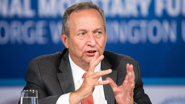 "Larry Summers, president emeritus of Harvard University, speaks during a discussion on ""A Reform Agenda for Europe's Leaders"" during the World Bank/IMF annual meetings in Washington October 9, 2014.      REUTERS/Joshua Roberts    (UNITED STATES - Tags: POLITICS BUSINESS EDUCATION) - GM1EAAA022401"